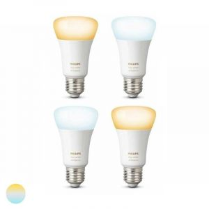 4x Philips Hue White Ambiance E27 Losse Lamp met Bluetooth