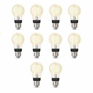 10x Philips Hue Filament Warm White E27 Standaardlamp