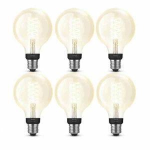 6x Philips Hue Filament Warm White E27 Globelamp 95mm