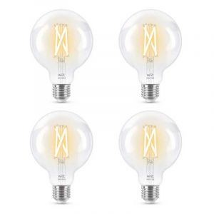 4x WiZ Filament Globelamp warm- tot koel wit licht