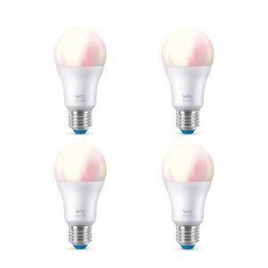 4x WiZ Wit en Gekleurd E27 lichtbronnen
