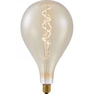 Grote peerlamp gemaakt van amber glas