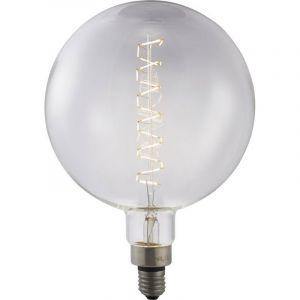 Grote globelamp gemaakt van helder glas