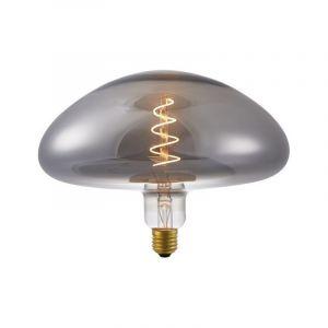 Mushroomlamp gemaakt van rookglas