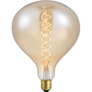 Grote peerlamp, gemaakt van amber glas