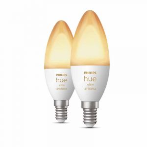 Philips Hue White Ambiance E14 Duopack met Bluetooth