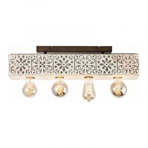 Brilliant Plafondlamp Vagos Zwart 89635/75