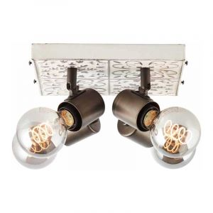 Brilliant Plafondlamp Vagos Zwart 89676/75