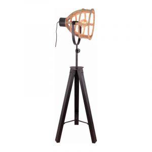 Brilliant Vloerlamp Matrix Hout 92640/66