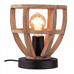 Brilliant Tafellamp Matrix Hout 92808/66