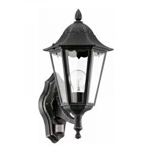 Eglo Wandlamp met sensor Navedo Zwart 93458