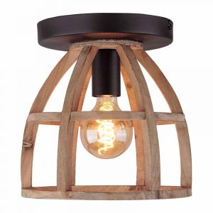 Brilliant Plafondlamp Matrix Hout 97064/66