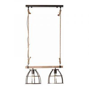 Brilliant Hanglamp Matrix Wood Zwart 99134/46