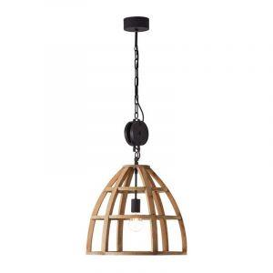 Brilliant Hanglamp Matrix Hout 99156/66