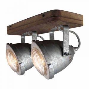 Freelight Spotlamp Woody 2-lichts Thermisch verzinkt PL5202GV