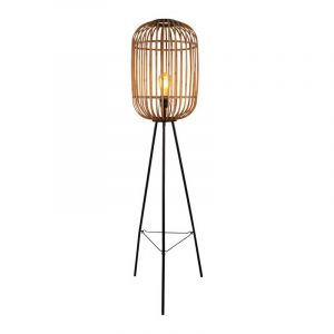 Freelight Vloerlamp Treccia Hout S5401H