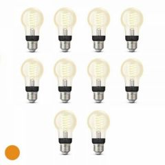 10x Philips Hue Filament Warm White E27 Standaardlamp