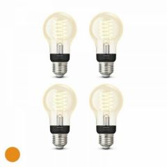 4x Philips Hue Filament Warm White E27 Standaardlamp