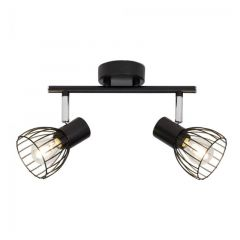 Brilliant Spotlamp Blacky 2-lichts Zwart 62113/06