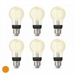 6x Philips Hue Filament Warm White E27 Standaardlamp
