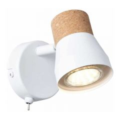 Brilliant Wandlamp Moka Wit 75711/75
