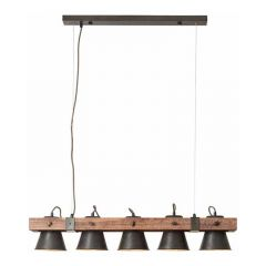 Brilliant Hanglamp Plow Hout 82175/46