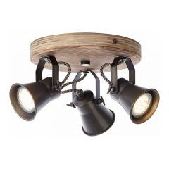 Brilliant Spotlamp Seed 3-lichts Hout 82234/46