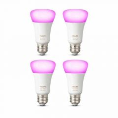4x Philips Hue White and Color Ambiance E27 Losse Lamp met Bluetooth