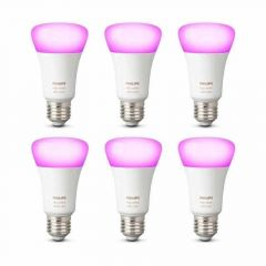 6x Philips Hue White and Color Ambiance E27 Losse Lamp met Bluetooth