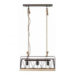 Brilliant Hanglamp Narcy Hout 93587/71