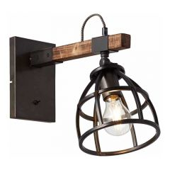 Brilliant Wandlamp Matrix Hout 99137/46